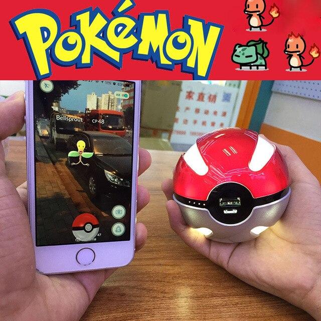 Pokeball Power Bank Для Покемонов Идти Dual USB Внешняя Батарея 10000 мАч LED Быстрое Зарядное Для Косплей Игры Покемонов Powerbank