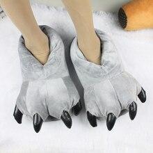 Totoro griffes coton pantoufles mignon d'hiver plancher chaussures chaud parent-enfant chaussures les amateurs de bande dessinée en peluche chaussures adulte
