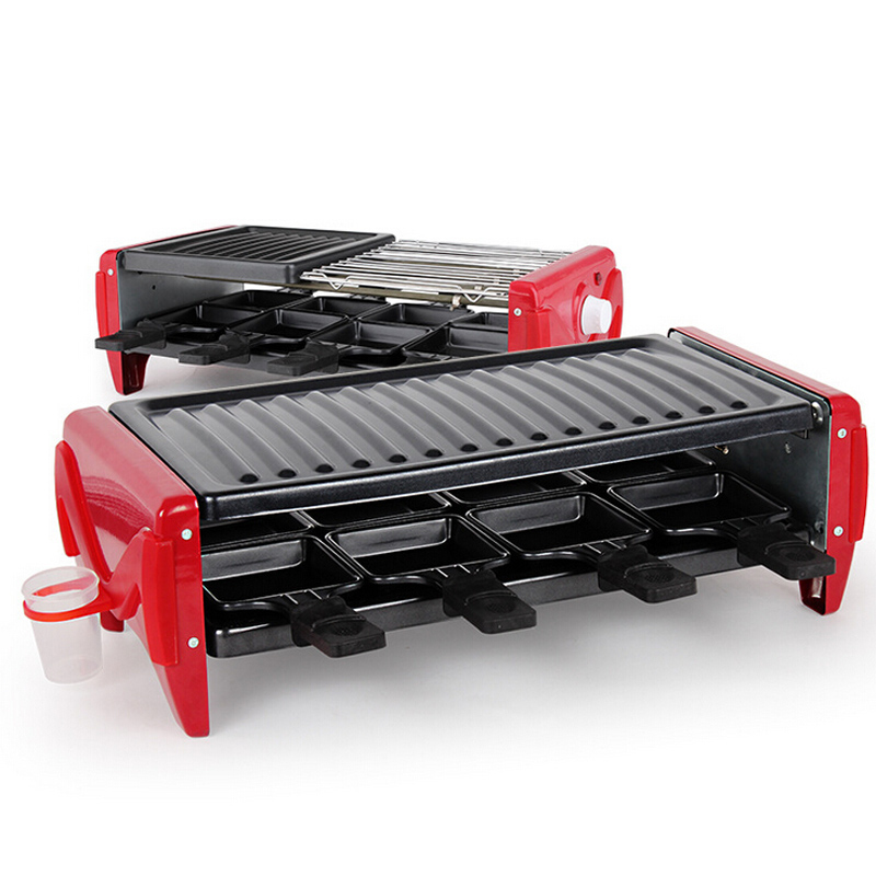 VOSOCO Electric grill Barbecue machine oven BBQ Multi mode electric Double deck Smoke free grill 1800W Highpower Korean Barbecue