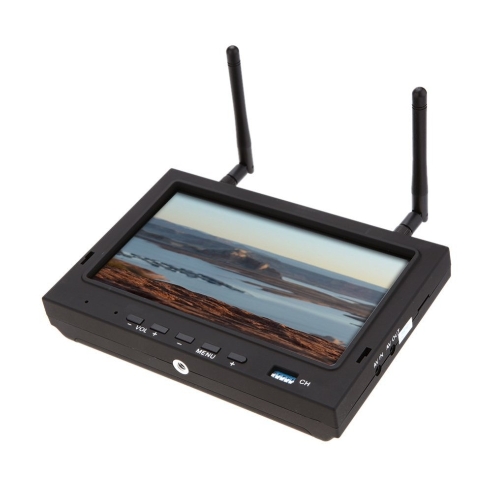 RC702 Sky-702 7 Inch FPV Monitor Displayer Built-in 5.8G 32CH Diversity Dual Receiver with Sunshade Hood 2pcs fpv 7 inch monitor displayer pvr 732 built in battery dual 32ch 5 8ghz diversity receivers hd screen free shipping