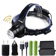 Z20 индукции светодиодный фар Алюминий XM-L T6/L2 светодиодный налобный фонарь увеличения фонарик налобный фонарь для Отдых Разведка
