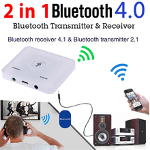 HIFI Bluetooth 4.0 Audio Transmitter & Receiver Wireless A2DP 3.5MM RCA Music 2 in 1 Transceiver Adapter Support AUX out