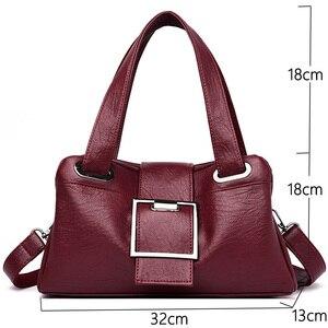Image 2 - Torebki damskie skórzane Vintage miękkie skórzane damskie torby na ramię Crossbody projektant marki damskie torby z uchwytami o dużej pojemności