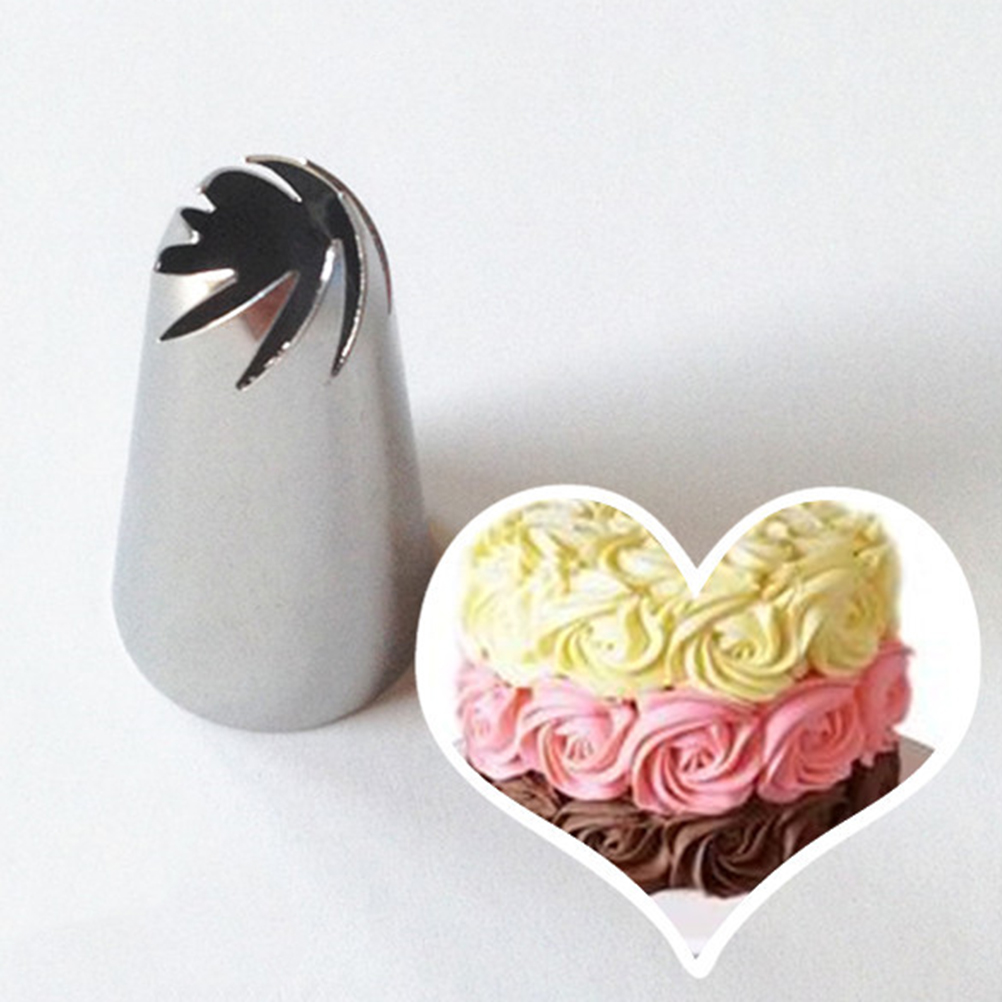Cake Decor Tools Icing Nozzles Stainless Steel Pastry Tube Cream Icing Piping Tips Nozzle Fondant Cake Decor 1PCS