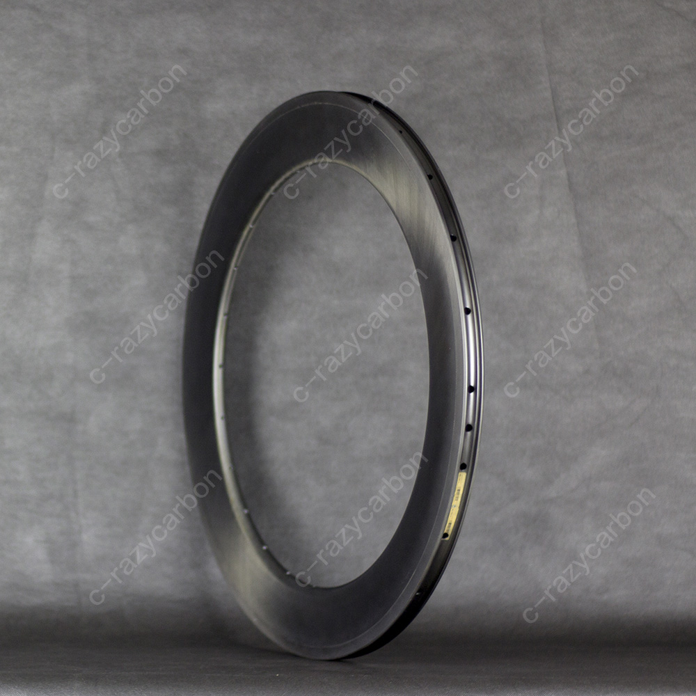 Free Shipping 700C Carbon 55mm Depth Road Rims in 25mm Width Clincher and Tubless with Textured