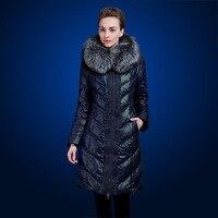 Medium Long Thickening Down Coat Plus Size Plus Size Fox Fur Slim Over The Knee Women