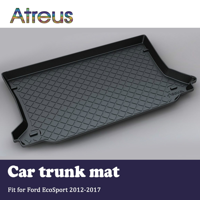 Atreus For Ford EcoSport Accessories 2012-2017 Car Rear Boot Liner Trunk Cargo Mat Tray Floor Carpet Pad Protector mopai rubber car interior trunk cargo liner floor pad mat accessories for ford mustang 15 up car styling