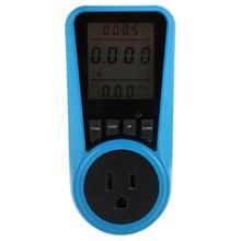 Ue US royaume-uni prise courant alternatif compteur numérique wattmètre Watt moniteur d'énergie temps tension courant Herz prix affichage prise analyseur