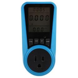 EU US UK Plug AC Power Meter Digital Wattmeter Watt Energy Monitor Time Voltage Current Herz Price Display Socket Analyzer