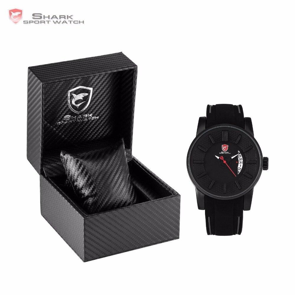 Luxury Leather Box Grey Reef Shark Sport Watch 3D Special Designer Top Brand Date Silicone Strap Quartz Men's Watches /SH477-480 цена