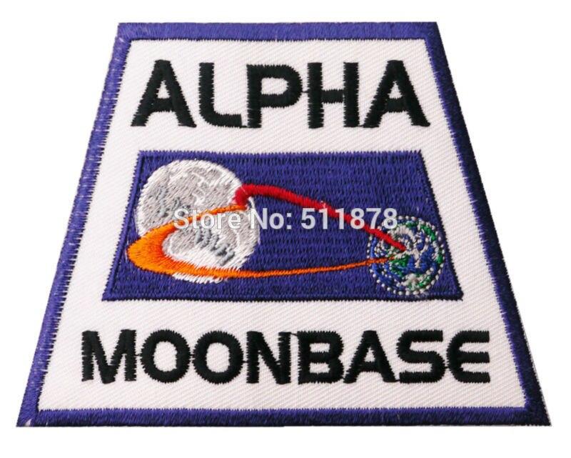 3 9 SPACE 1999 Moonbase Alpha Jacket Shoulder Uniform TV MOVIE Series Costume Badge Embroidered Emblem