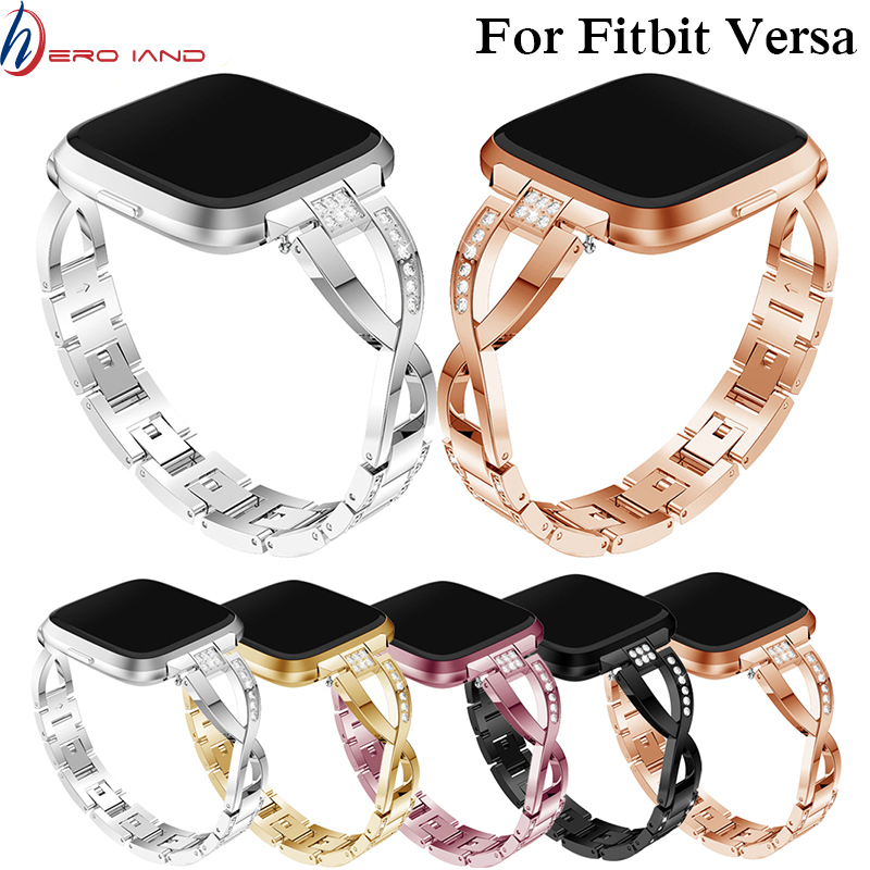 Watch-Strap Bracelet Wrist-Band Replacement Smart-Accessories Fitbit Versa for 125mm-190mm/Elegant/Luxury/Replacement