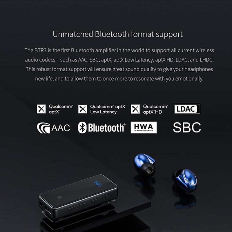 FiiO BTR3 CSR8675 AK4376A USB DAC Portable Bluetooth APTX HD LDAC LHDC Type C 3.5mm amplificateur pour i téléphone/téléphones Android/PC - 2