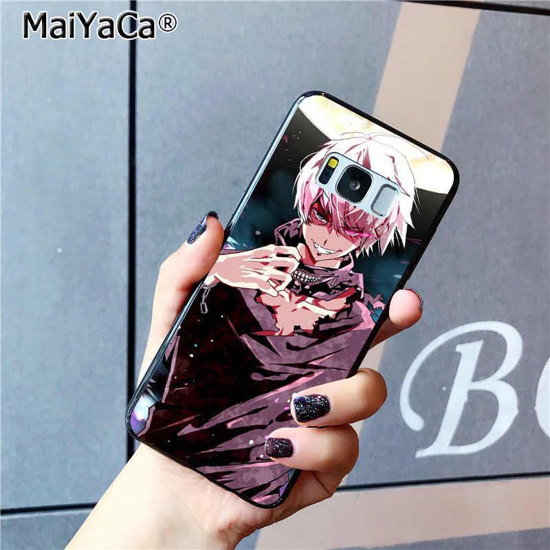 MaiYaCa アニメ東京グール日本ノベルティ Fundas 電話ケース三星銀河 S8 S7 エッジ S6 エッジプラス S5 s9 プラスケース