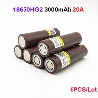 hg2 18650 for imr 18650 hg2 3000mah 20a lithium battery 3.6V 3000mAh electronic battery 6PCS battery
