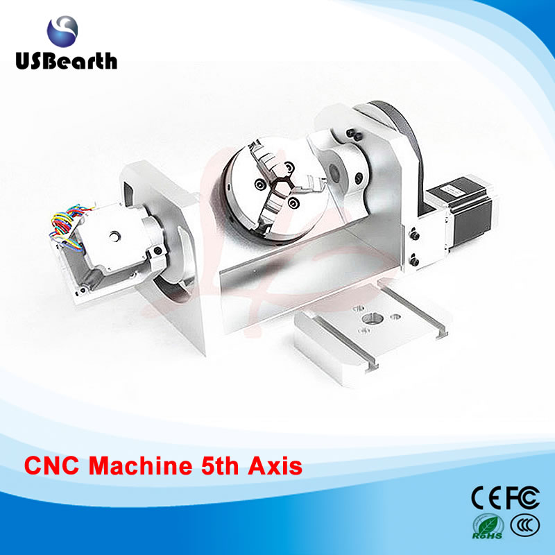 CNC 4th axis / 5th axis ( A aixs, Rotary axis ) with chuck for cnc router cnc 5 axis a aixs rotary axis three jaw chuck type for cnc router