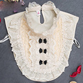 Wholesale New Women False Collar Clothes Shirt Detachable Collars Ivory white Lace Flower  A123 A124 A125