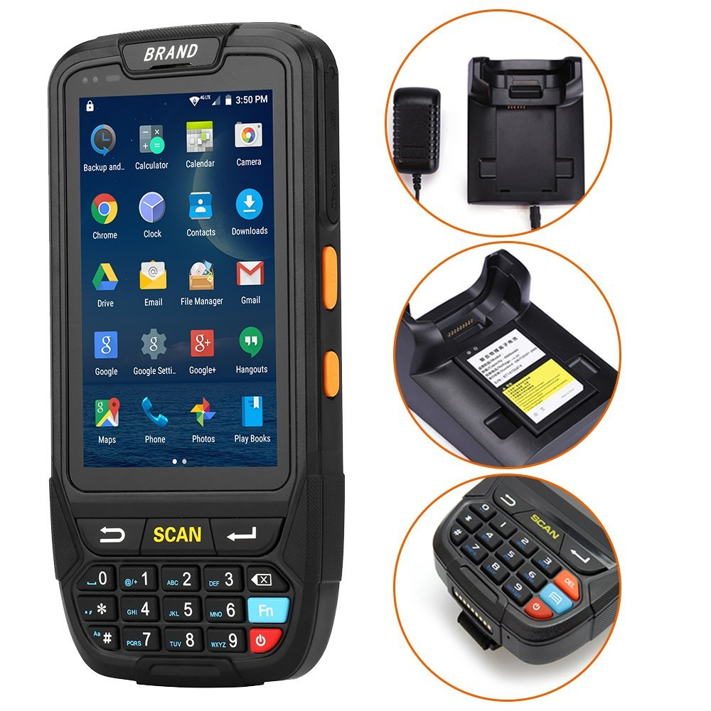 IssyzonePOS PDA Terminal 1D 2D Barcode Reader Android 7 Data Collector Wifi Bluetooth for Inventory Management Warehouse System-in Scanners from Computer & Office    3