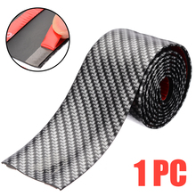 1M*5CM Car Carbon Fiber Style Rubber Door Sill Protector Edge Guard Strip DIY Stickers