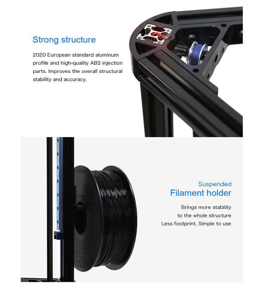 Anycubic 3D Printer impresora 3D Auto-Leveling Pulley Version Linear Guide Plus Large 3D Printing Size 3D printer diy kit 5