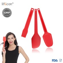 Liflicon Non-Stick Baking Tools Easy to Clean Seamless One-Piece Spoon&Spatula Pro Grade Mixing