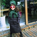 Girls X-Long Down Coat filling 90% White Duck Down Kids 60~80cm Long jackets Girls Black Coat Toddler Winter Coats Child Hoodies