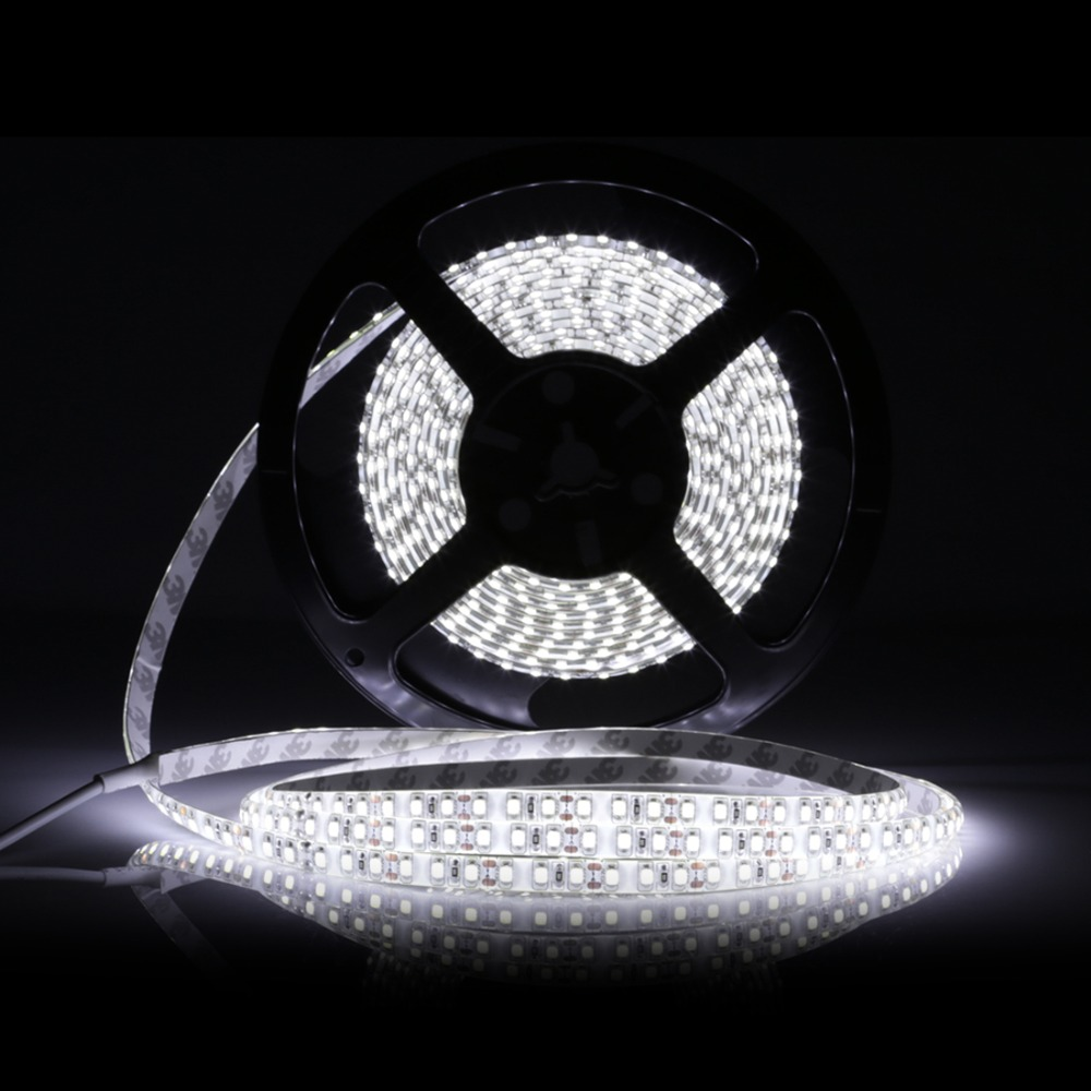 LED Strip 5M 2835 600LEDs Flexible Band Light WarmWhite/White Waterproof Addressible 12V Addressible Ribbion With Power Supply