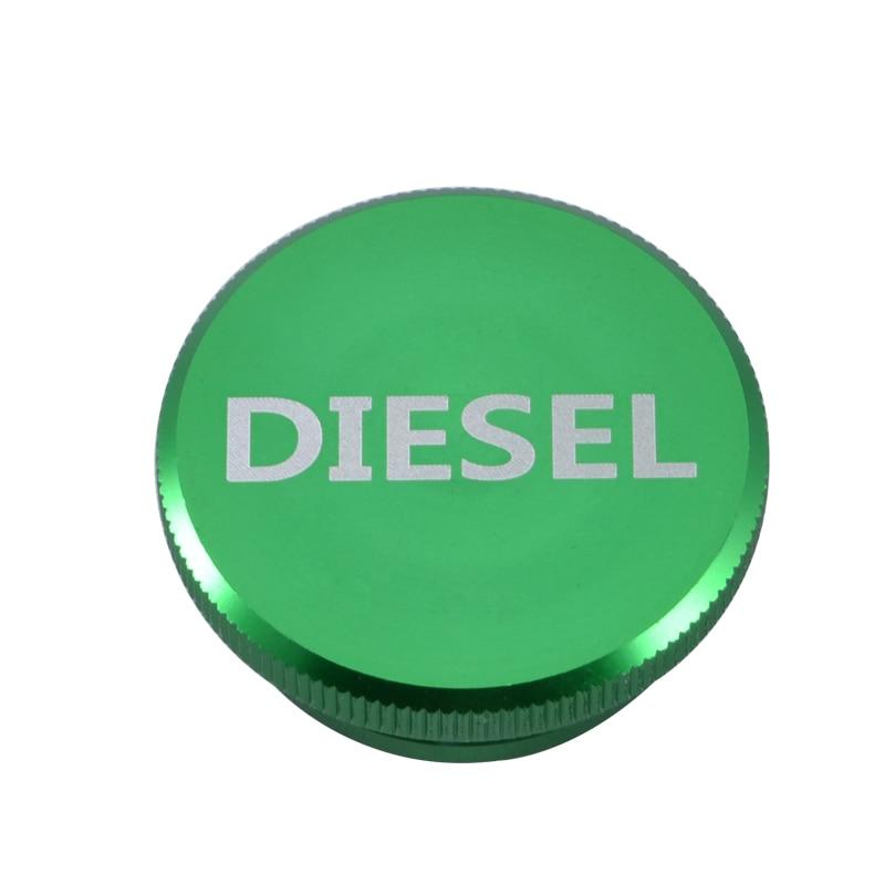 Green Diesel Billet Aluminum Fuel Cap Magnetic for 2013-2016 Dodge Ram