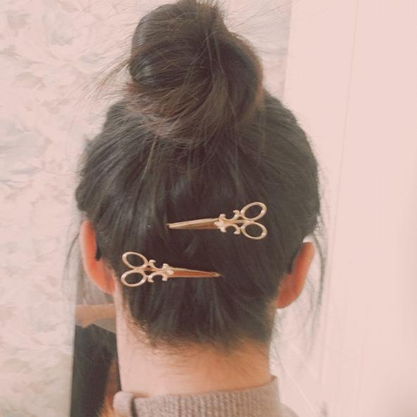 2018 Gold silver Scissors HairPins Shears Clip For Hair Tiara Barrettes Headdress Vintage Simple Head Jewelry best Friends gift