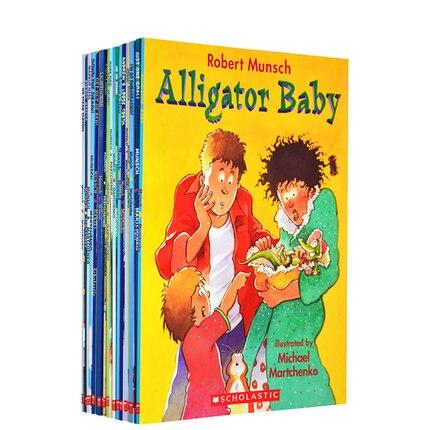 21 livres/ensemble Robert Munsch apprendre l'anglais livres à colorier pour enfants enfants bande dessinée début jouets éducatifs pour enfants