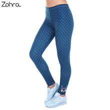 Zohra Printed Women Freeride Deer Dots Legging High Waist Legins Elastic Silm Fit Women Pants Leggings
