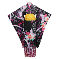 Japanese Style Women Kimono Classic Girl Cosplay Costume Traditional Print Flower Yukata Dress Vintage Haori Geisha Clothing