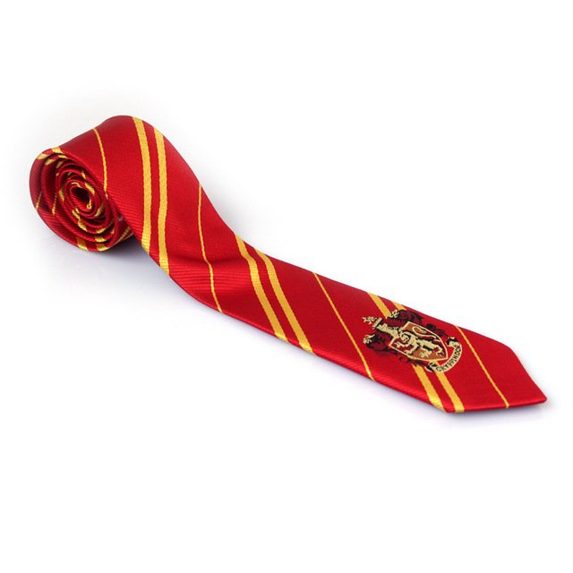 Gryffindor/Slytherin/Hufflepuff/Ravenclaw Necktie ties New fashion 4 colors College Style series gift for boys&girls school tie