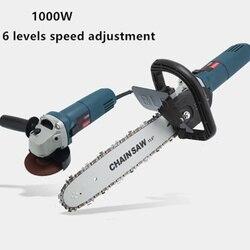 1000 w 220 v 11000rpm 6 velocidade ajustável elétrica 100 ângulo moedor motosserra corte carpintaria motosserra suporte mudança moedor