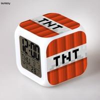 2014 New Minecraft Toys Minecraft Alarm Clock Fashion Cartoon Desk Clock Classic Amine Relogio Despertador For