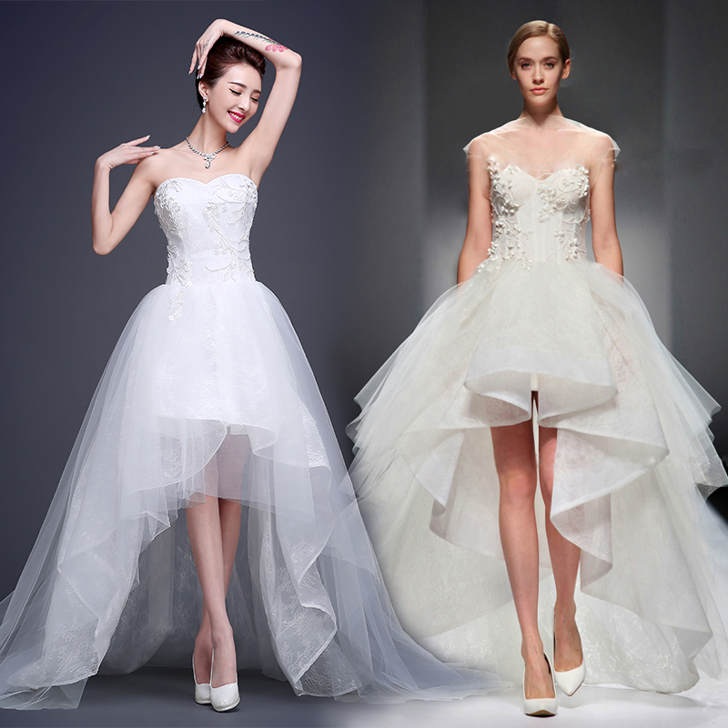 Latest Wedding Gowns 2015: 2015 New Style Sweet Heart Neck Strapless A Line Front