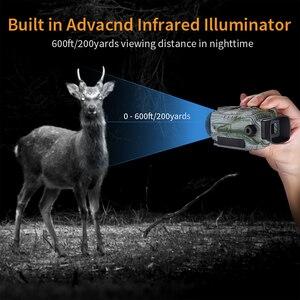 Image 3 - BOBLOV P4 5X التكبير الرقمي ناظور أحادي العين للرؤية الليلية حملق الصيد الرؤية أحادي 200 متر كاميرا تعمل بالأشعة تحت الحمراء وظيفة للصيد 8 جيجابايت