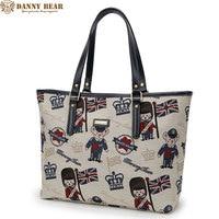 DANNY BEAR New design brand Women Handbags Fashion Shoulder Bags Preppy Style White Large Female Tote Bag Bolso de las mujeres