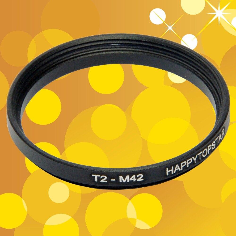 T T2 macho a M42 hembra T T2 (42mm Paso de rosca 0,75mm)-M42 (42mm 1mm paso de rosca) adaptador de anillo de lente de acoplamiento de 42mm