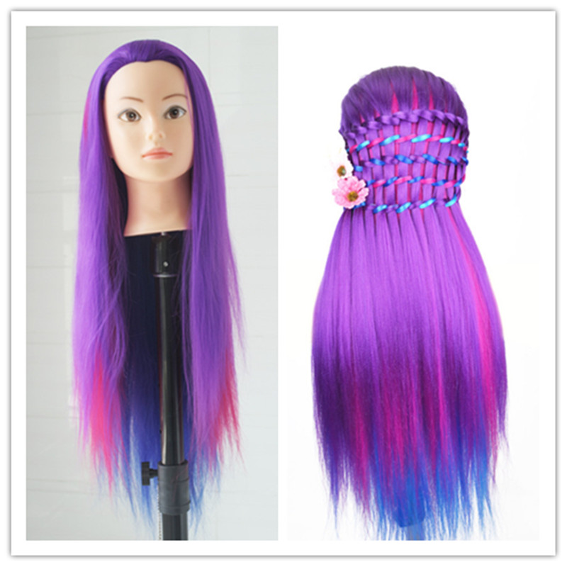 Long Hair Training Mannequin Head for Hairdressers Head Dolls Hairstyles Head Professional Styling Head With Wigs Female in Mannequins from Home Garden