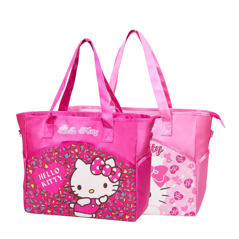 156764ed0f4b Cartoon Hello Kitty Printed Handbag Women Shoulder Bag Fashion Phone Daily  Essentials Organizer Mummy Pouch Accessories Supply-in Shoulder Bags from  Luggage ...