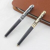 2pcs/lot Duke Luxury Gold 0.5MM Fountain Pen + 0.7mm Roller Ball Pen for Lovers Pens Christmas Gift Free Shipping