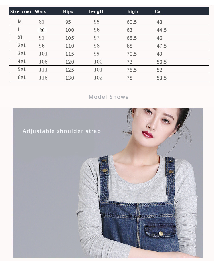 2018 HCYO spring new 200 pounds fat mm jeans women's trousers Korean version of the loose large size women's bib pants (1)
