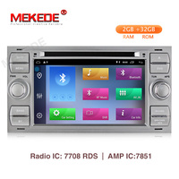 MEKEDE 1024X600 2+32G 2 Din Android 9.1 Car dvd Multimedia Player GPS For Ford Mondeo Focus Transit C MAX S MAX Fiesta Car radio