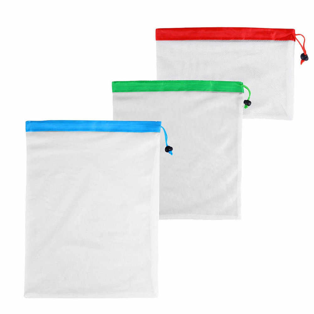 12/15Pcs New Washable Eco Friendly Bags Reusable Mesh Produce Bags for Fruit Vegetable Storage Bags Grocery Shopping Storage Toy