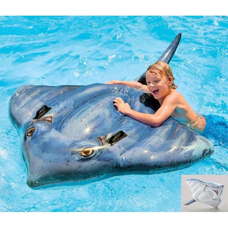 Piscine gonflable bateau flottant Enfants de natation ligne flottante repos estival d'eau jouets et pompes à eau