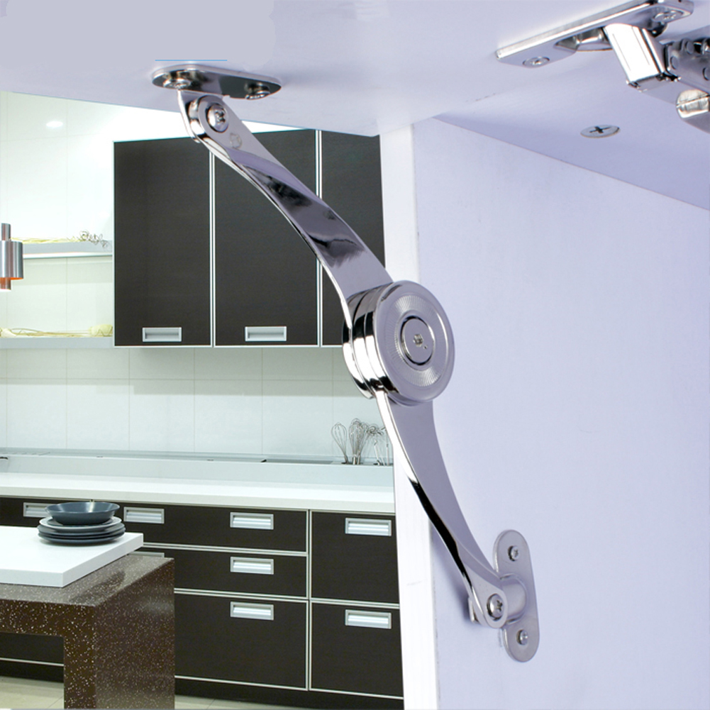 Cabinet Cupboard Door Hinges Furniture Lift Up Strut Lid Flap Stay Support Zinc Alloy Hydraulic Hinges Hardware Tools