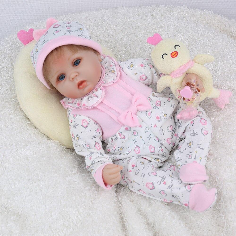 """Image 2 - NPKDOLL Кукла реборн 45 см Рождественский подарок для девочек 17 дюймов Baby Alive мягкие игрушки """"Цыплята"""" для девочек Lovely Bebe Reborn-in Куклы from Игрушки и хобби"""