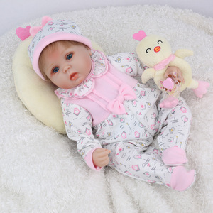 Image 2 - NPKDOLL Reborn Baby Doll 45CM Christmas Gift For Girls 17 Inch Baby Alive Soft Chicken Toys For Girls Lovely Bebe Reborn