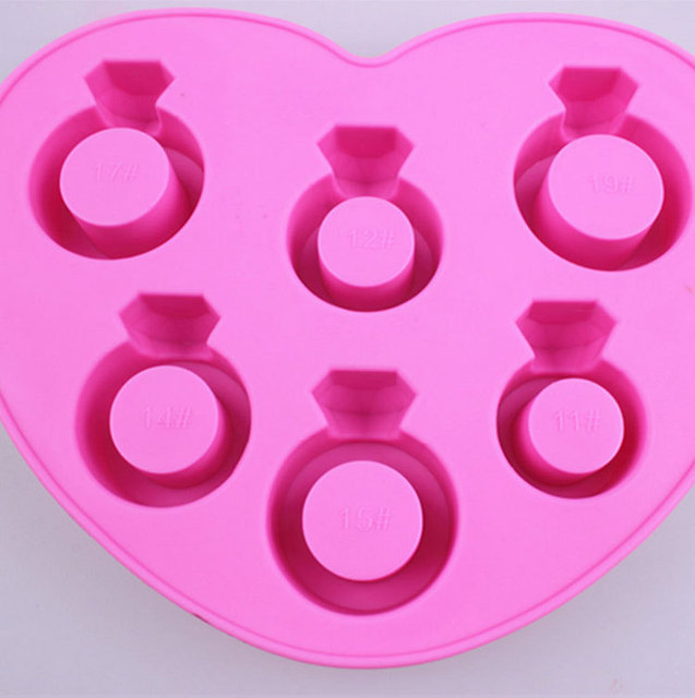 Love Diamond Ring Ice Tray Ice Cubes DIY Chocolate Mould Pudding Jelly Mold Silicone Bar Party SQ1029 1